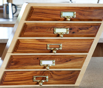 Custom built storage draws